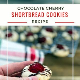 Chocolate Cherry Shortbread Cookies.