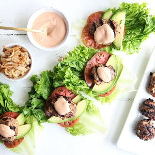 Animal Style Hamburgers.