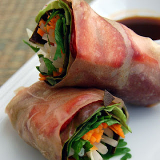 Strawberry Spring Rolls with Brown Rice Paper Wrappers Recipe