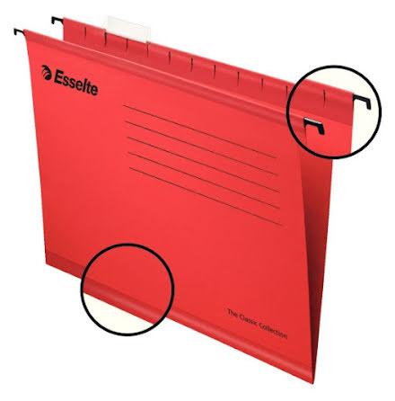 Hängmapp förstärkt Classic A4 Röd