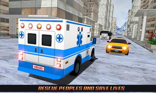 Code Triche Ambulance Rescue Driving 2017 mod apk screenshots 4