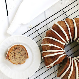 Zucchini and Banana Bundt Cake with Maple Cream Cheese Frosting