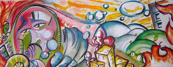 Photo: Mural Les Arts. Expuesto en Moncada Rte-Bar Les Arts