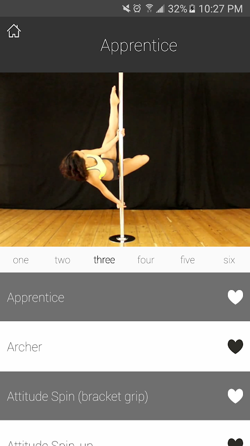 PDC Pole Dance Syllabus- screenshot
