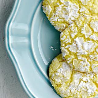 Lemon Pudding Crinkle Cookies.