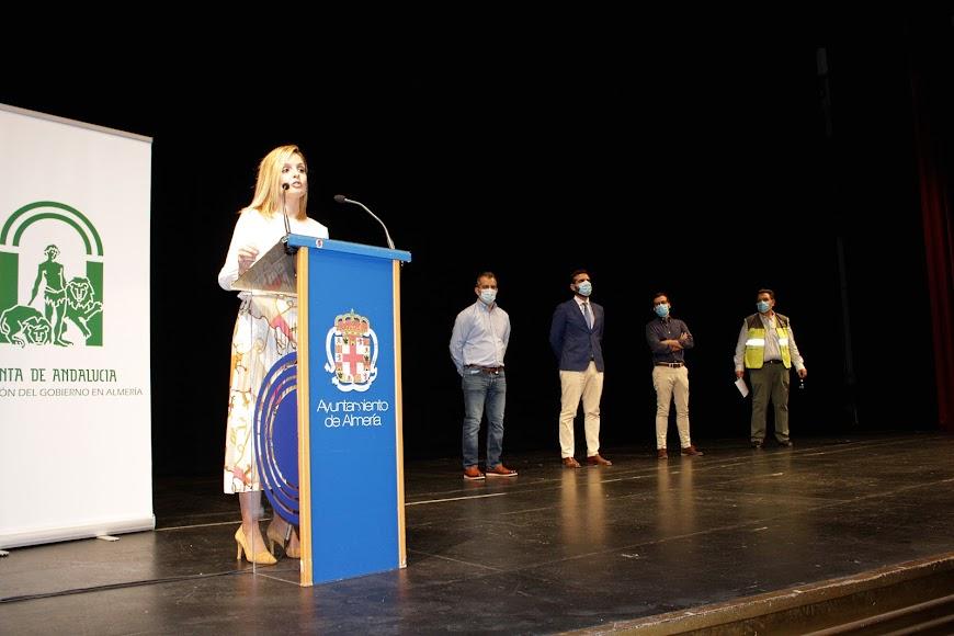 La delegada de Gobierno, Maribel Sánchez, durante su intervención.
