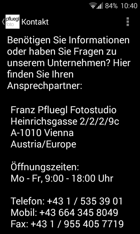 pflueglfoto Studio- screenshot
