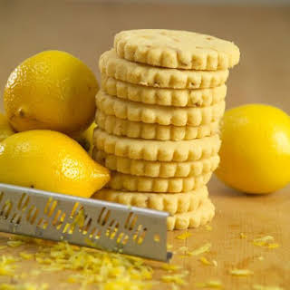 IRISH BUTTER SHORTBREADS WITH LEMON ZEST.