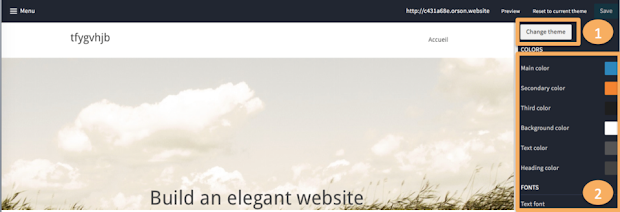 the easiest way to an elegant website