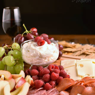 Meat and Cheese Platter with Fruit (and dip).