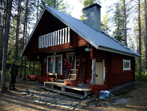 Photo: A traditional finnish summer cottage on an island in Kitka Lake owned by Anne's family, but rented out to vacationers