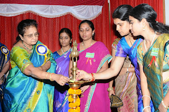 Photo: Lightening of the Lamp by Prof. K. Raja Rajeswari - Director, VITAM