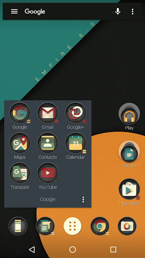 Emperial Icon Pack app for Android screenshot