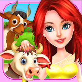 Ava on Animal Farm House For Kids on Eid Girls Fun