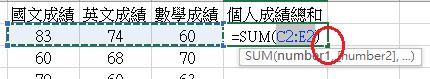 Excel SUM 用法