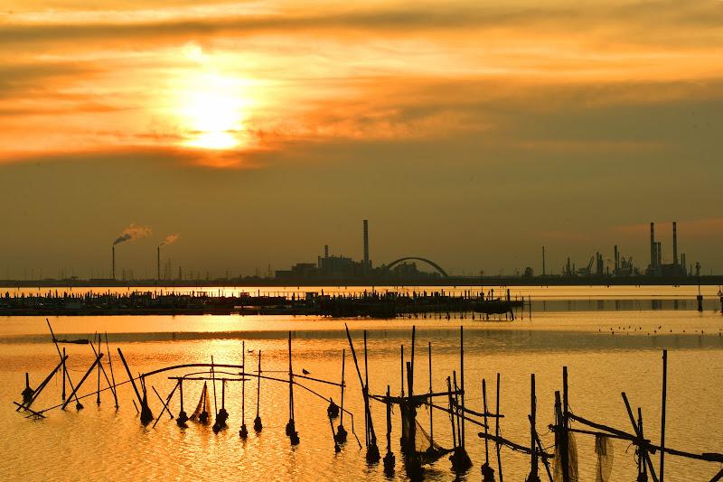 Un tramonto in laguna di renzo brazzolotto