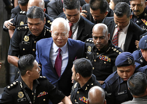 Former Malaysian prime minister Najib Razak arrives in court in Kuala Lumpur on July 4 2018. Picture: REUTERS