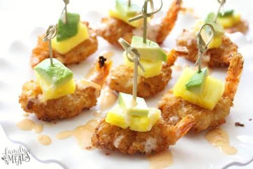 """Click Here for Recipe: Tropical Coconut Shrimp Bites """"All you have to..."""