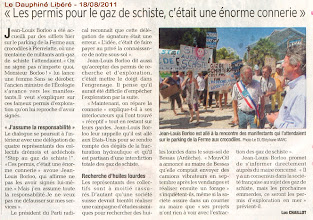Photo: 18/08/11. Article DAUPHINE.