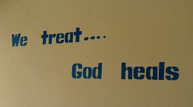 Photo: The clinic motto.