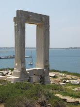 Photo: Gate of Apollo Naxos Malua in background
