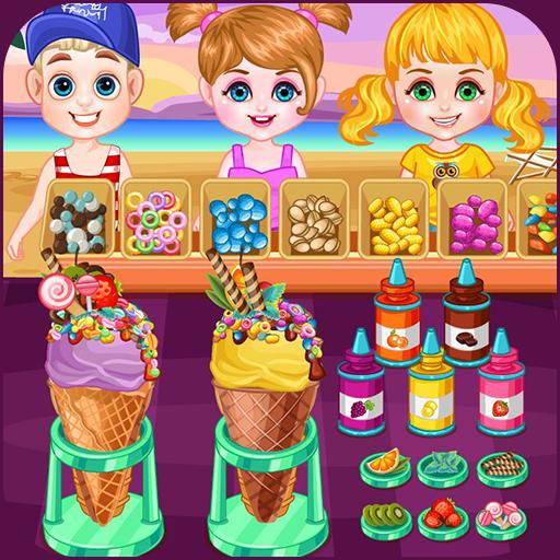 Ice cream shop on the beach Icon