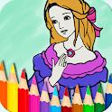 Princess Coloring Book & Drawing Pad icon