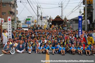 Photo: 【平成19年(2007) 本宮】 神輿連・囃子連合同で記念撮影。
