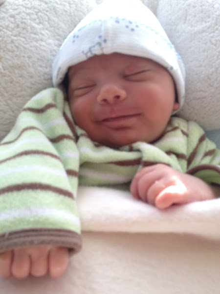 Photo: I'm excited that our little nephew Deven arrived in time for the celebration!