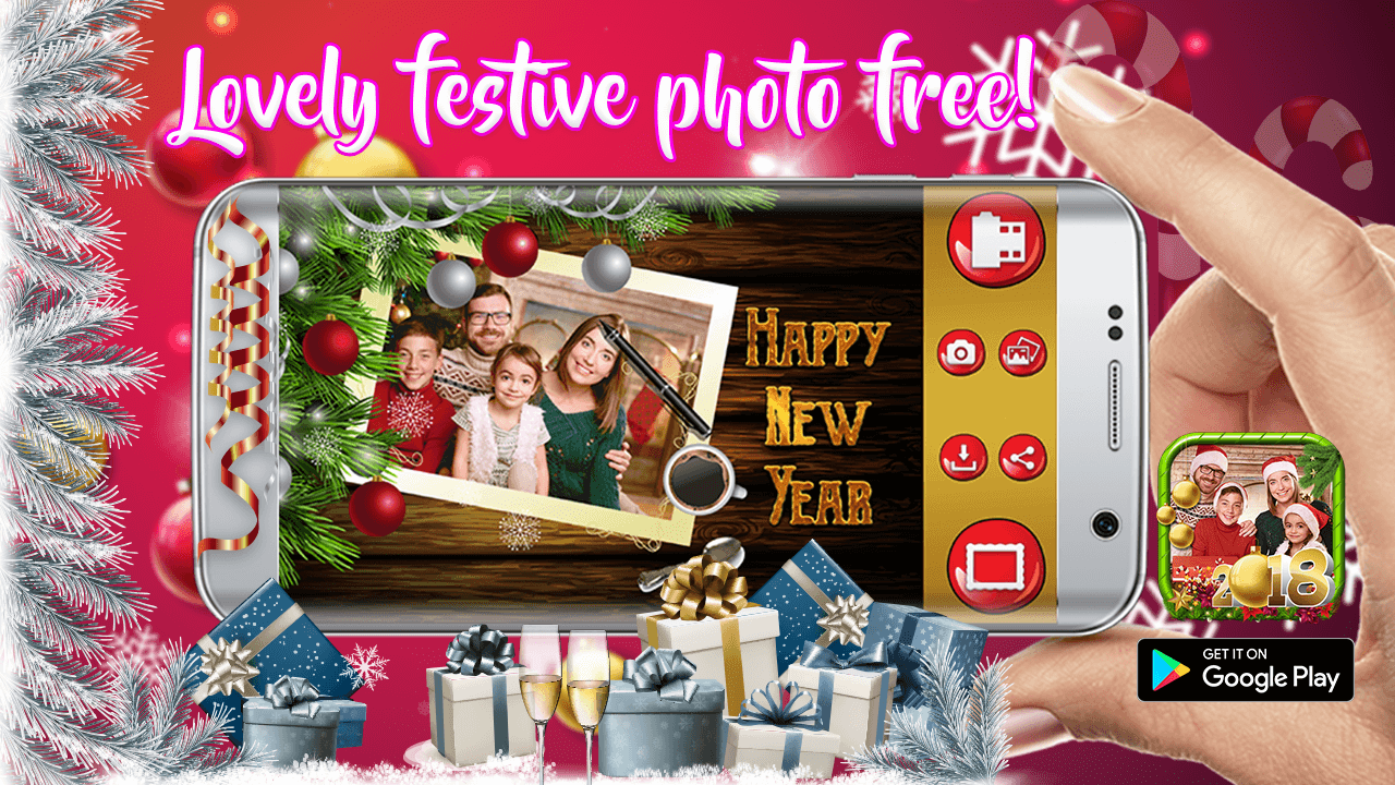 Happy new year greeting cards maker 2018 android apps on google play happy new year greeting cards maker 2018 screenshot kristyandbryce Images