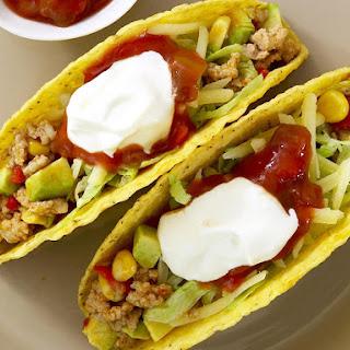 Chicken, Corn and Avocado Tacos