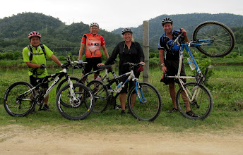 Photo: Year 2 Day 114 -  Geoffrey, Him Shoong, Me & Rog on the Off-Road Bike Ride