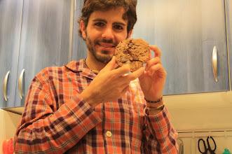 Photo: La megacookie d chocolate (me han salido 8!!); es lo q tiene no comer dulces industriales, q hay q hacérselos 1 mismo >