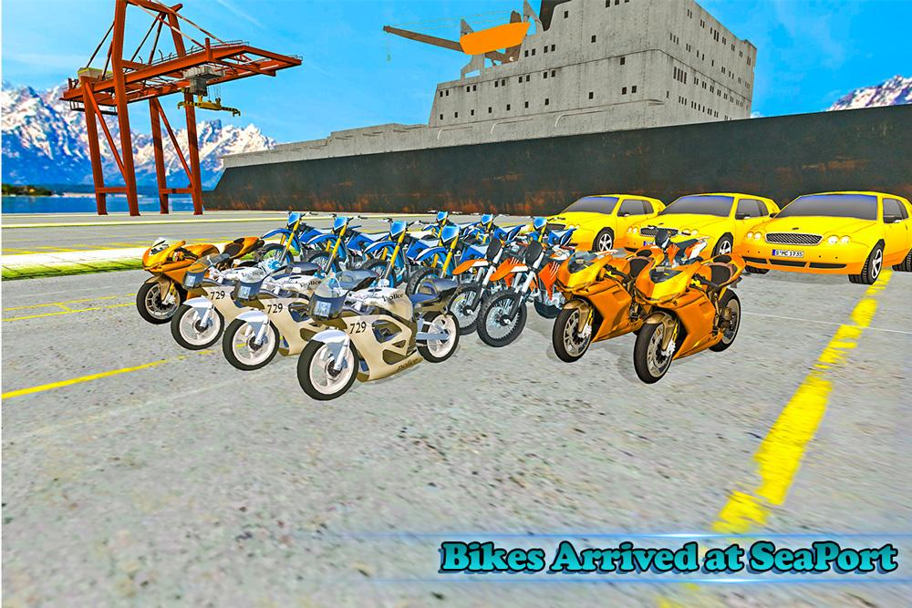 Bike Transport Truck Driver- screenshot