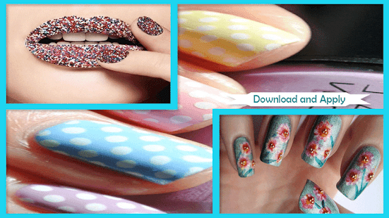 Adorable DIY Lip Patterned Manicure - náhled