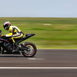 Racing day, Romania by Stefan Sorescu - Sports & Fitness Motorsports ( motorcycle, racing, yellow, speed, bike,  )