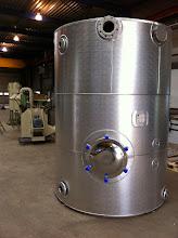 Photo: Geisoleerde tank voor hygiënisatie van digestaat