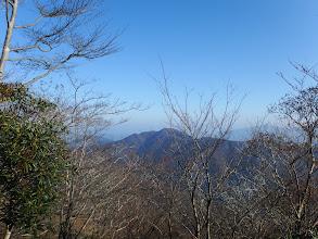 周りの山(烏帽子岳)が下に