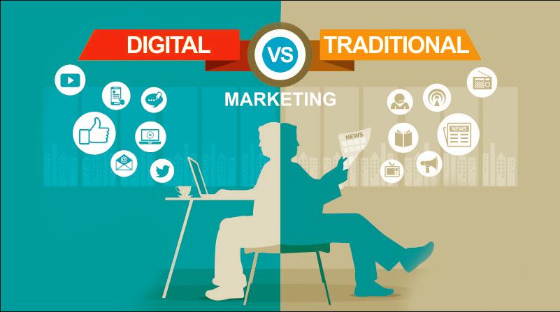 Digital marketing vs marketing truyền thống (cre: SUNO.vn)