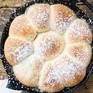 Pumpkin Ricotta Pull Apart Buns #BreadBakers