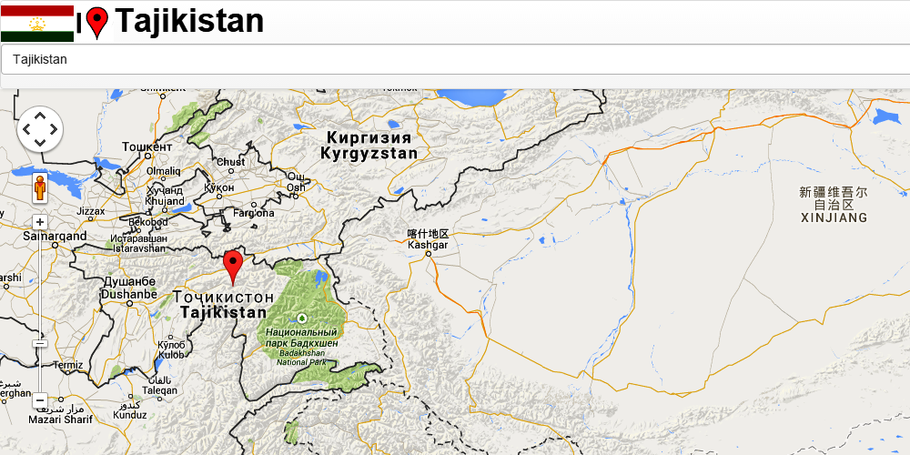 Tajikistan Map Android Apps On Google Play - Dushanbe map