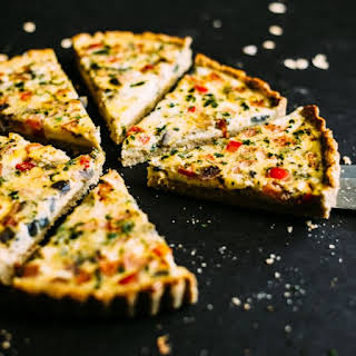 Mexican Quiche with Oat Almond Crust.