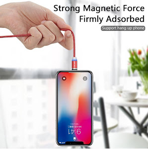 Cablu de incarcare magnetic cu LED indicator