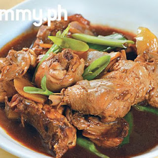 Braised Chicken with Ginger and Sesame Oil