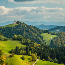 by Mario Horvat - Landscapes Mountains & Hills ( clouds, hills, sky, slovenija, green, slovenia, landscape )