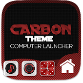 Carbon Fiber Theme For Computer Launcher