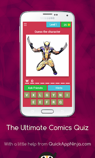 玩免費益智APP|下載The Ultimate Comics Quiz app不用錢|硬是要APP