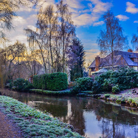 Winter on the Blackwater River, Sandhurst by Dave Williams - Landscapes Prairies, Meadows & Fields
