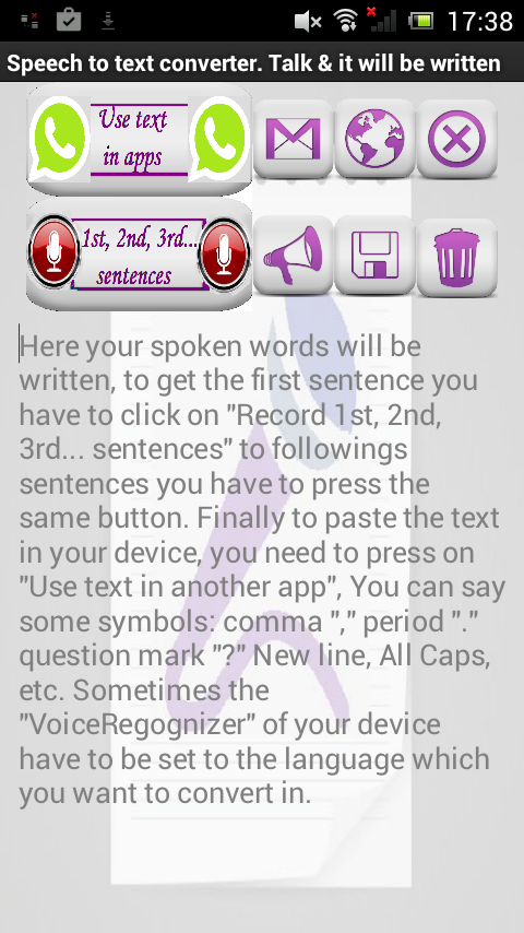 Speech To Text & Text To Voice- screenshot