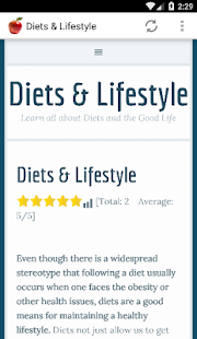 Diets & Lifestyle- screenshot thumbnail